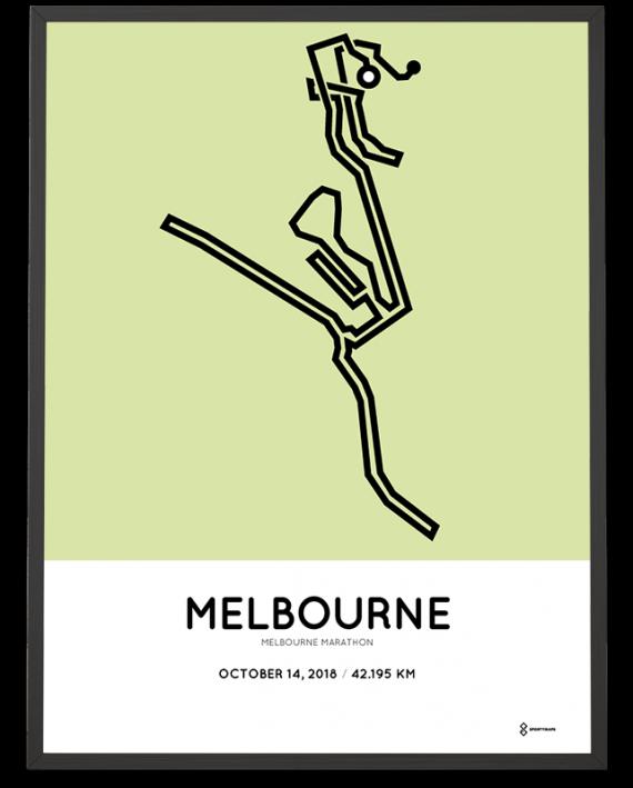 2018 Melbourne marathon course poster