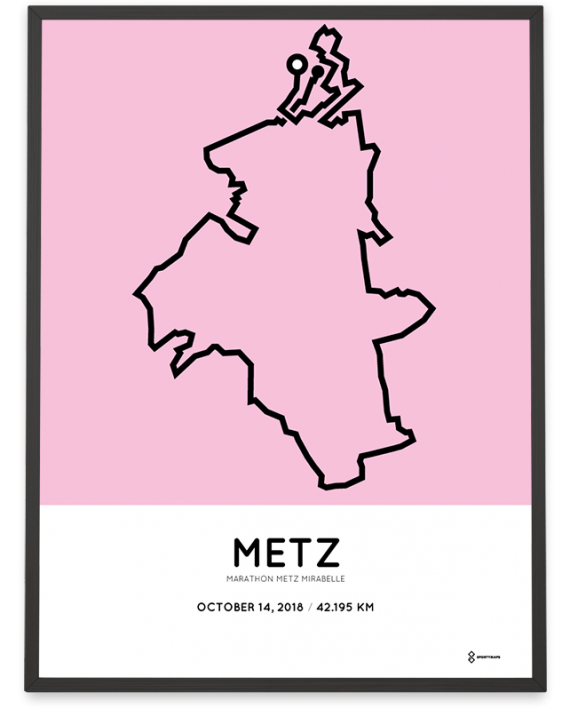 2018 marathon Metz mirabelle parcours print