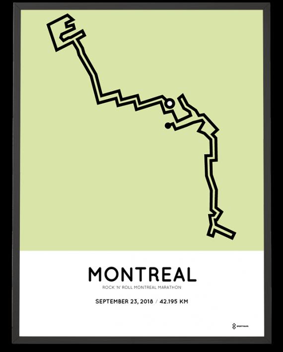 2018 Montreal marathon parcours poster