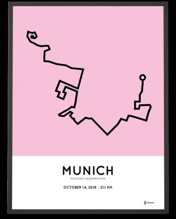 2018 Munich half marathon course poster