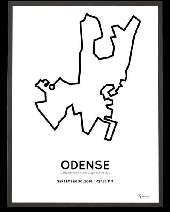 2018 Odense marathon course poster