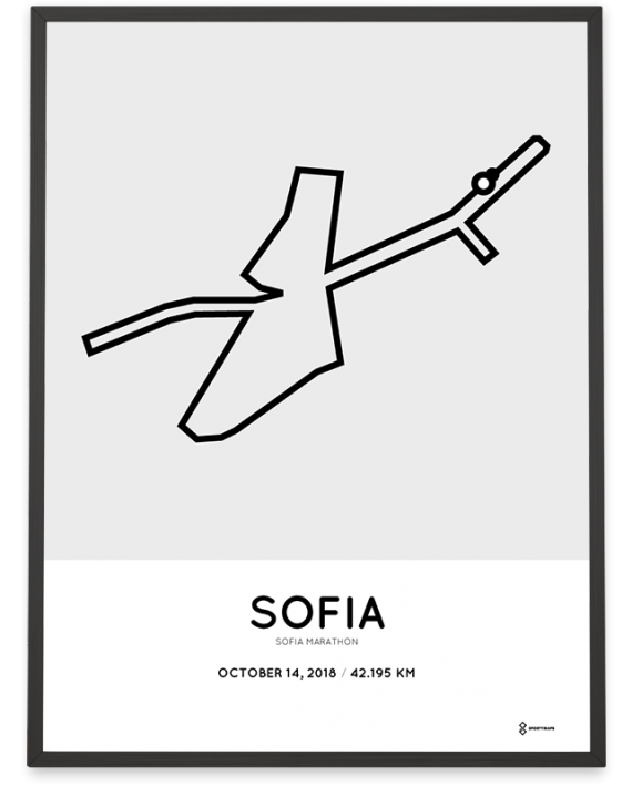 2018 Sofia marathon course poster
