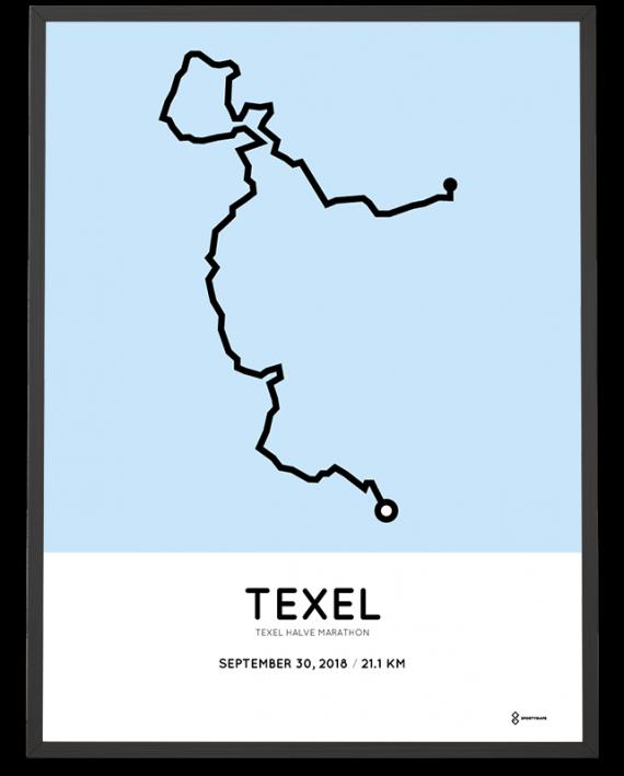 2018 Texel halve marathon route poster