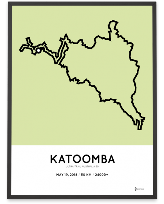 2018 Ultra-Trail Australia 50km route map poster