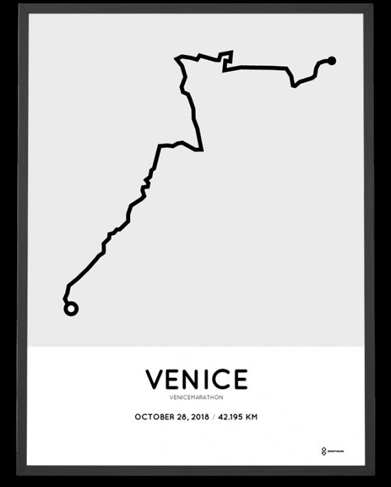 2018 Venice marathon route map poster