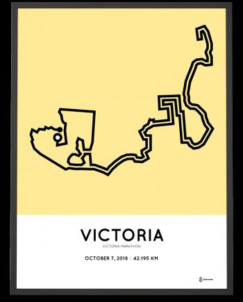 2018 Victoria marahton course map poster