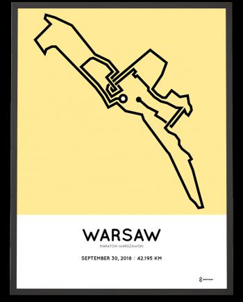 2018 Warsaw marathon course poster