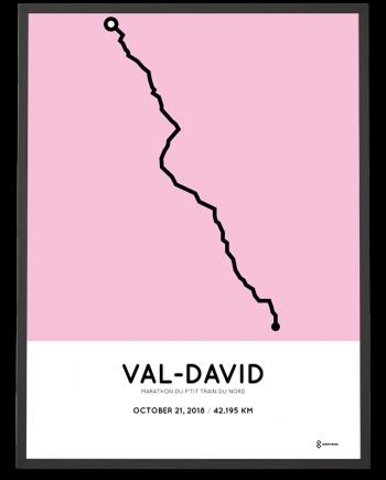 2018 marathon du ptit train du nord course poster