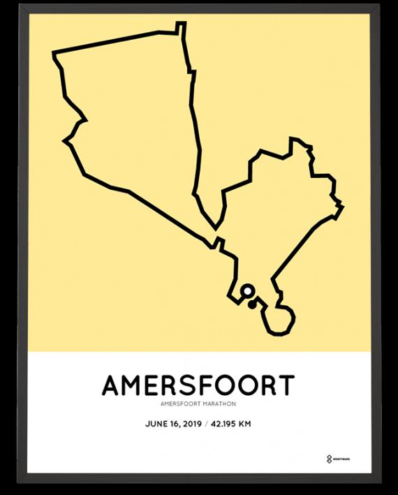 2019 Amersfoort marathon parcours sportymaps print