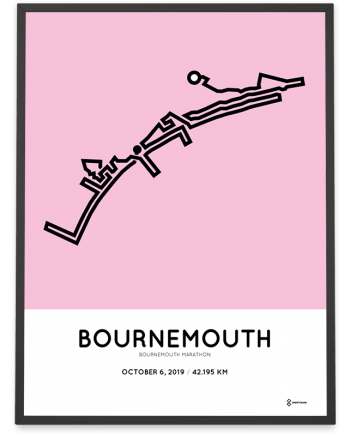 2019 Bournemouth marathon course poster