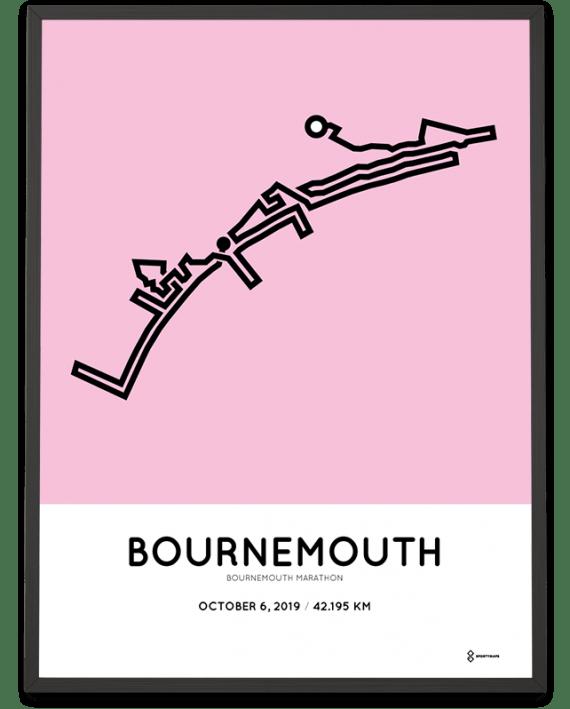 2019 Bournemouth marathon course poster