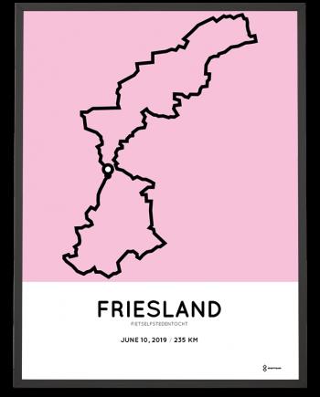 2019 Fietselfstedentocht route poster
