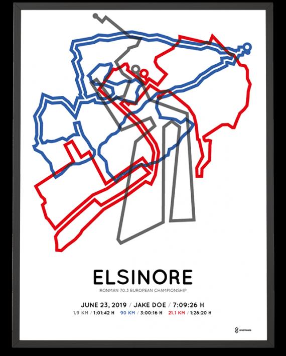 2019 Ironman 70.3 Elsinore course print