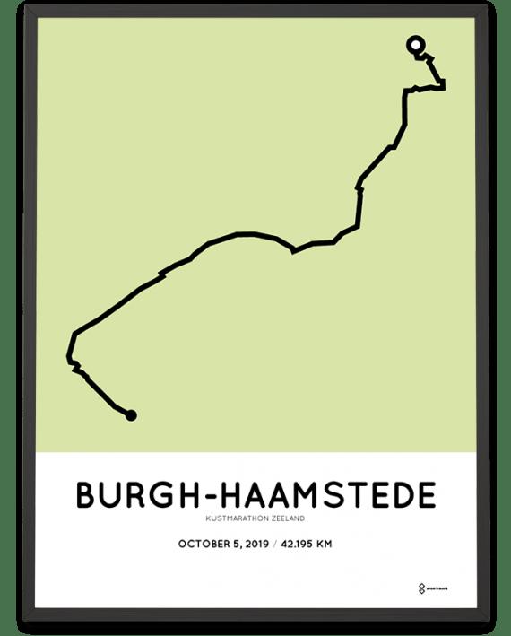 2019 Kustmarathon Zeeland routekaart poster
