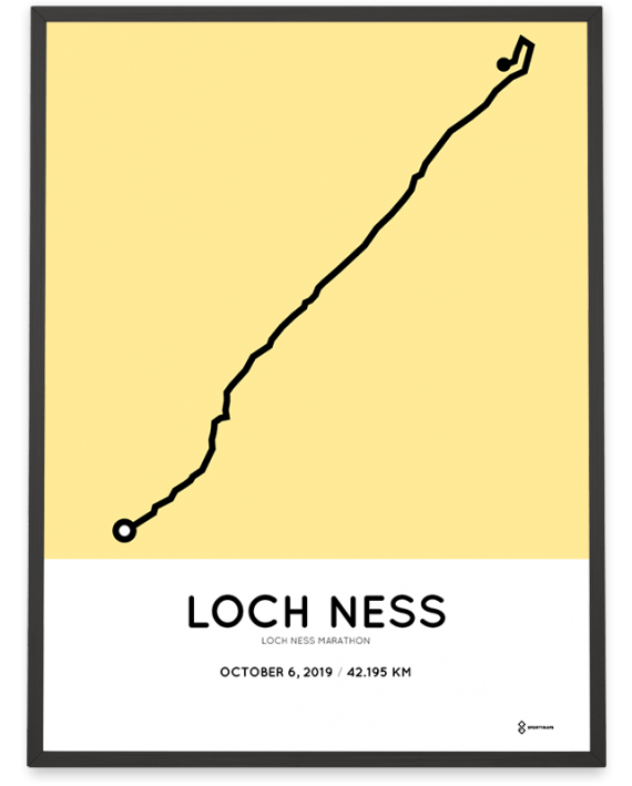 2019 Loch Ness marathon sportymaps poster