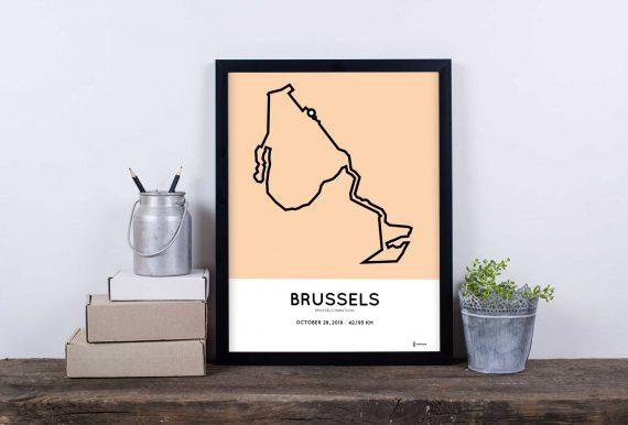 2018 brussel marathon parcours sportymaps poster