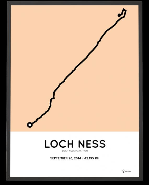 2014 Loch Ness marathon route map poster