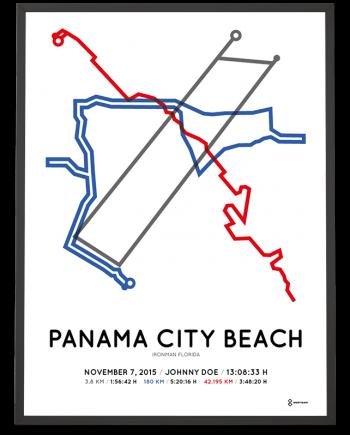 2015 Ironman Florida course sportymaps poster