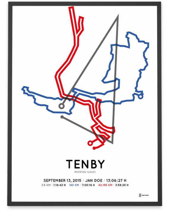 2015 Ironman Wales routemap course poster