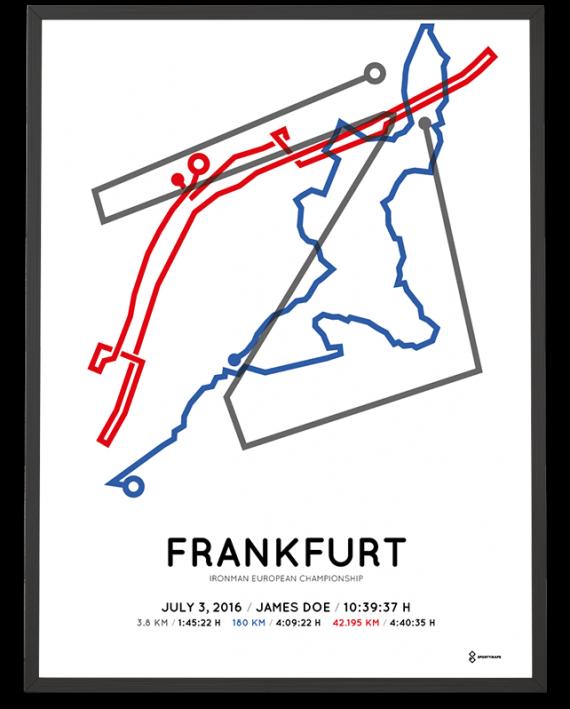 2016 Ironman European Championship Frankfurt course poster