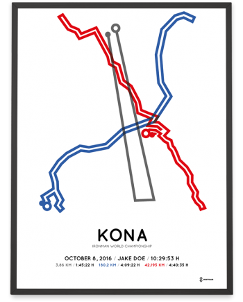 2016 Ironman world championship Kona course poster