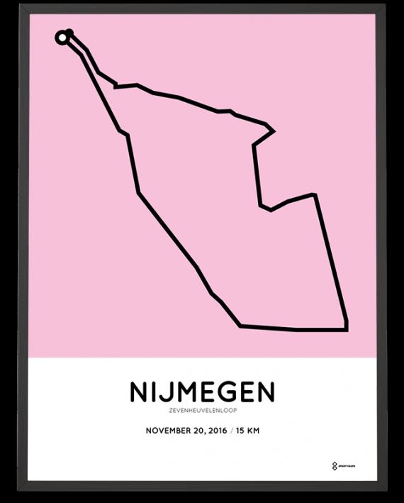 2016 Zevenheuvelenloop parcours poster