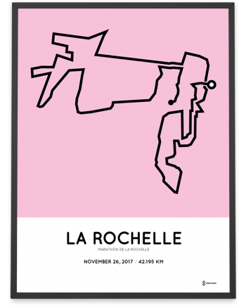 2017 La Rochelle marathon parcours poster