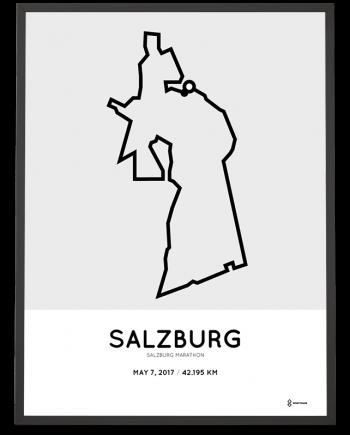 2017 Salzburg marathon course poster