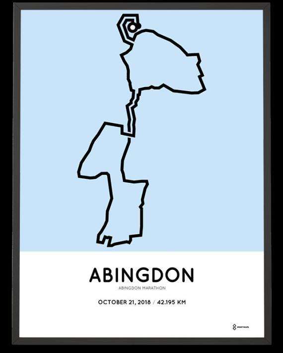 2018 Abingdon marathon course sportymaps poster