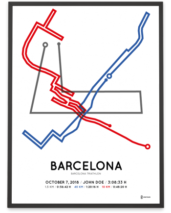 2018 Barcelona triathlon olympic distance course poster