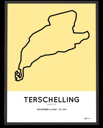 2018 Berenloop half marathon course poster
