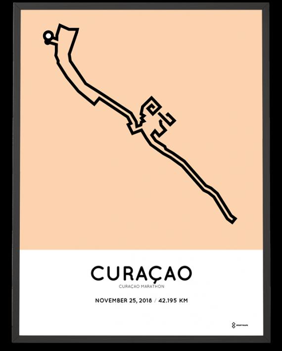 2018 Curacao marathon sportymaps course poster