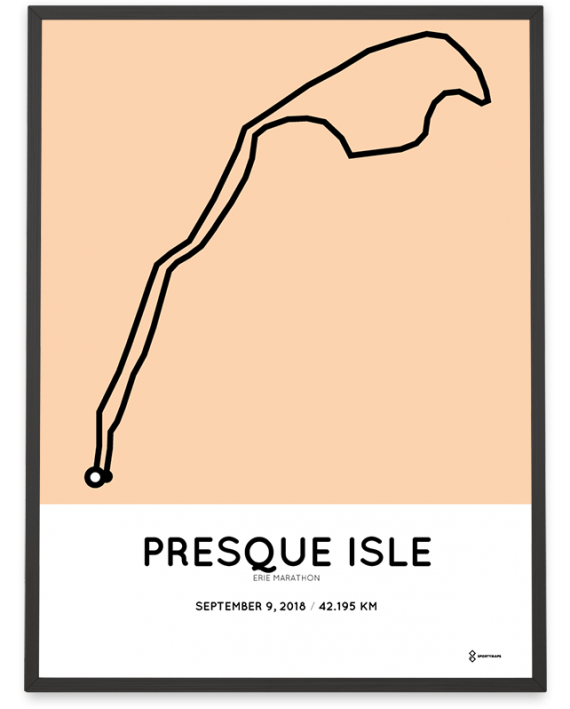 2018 Erie marathon course map poster
