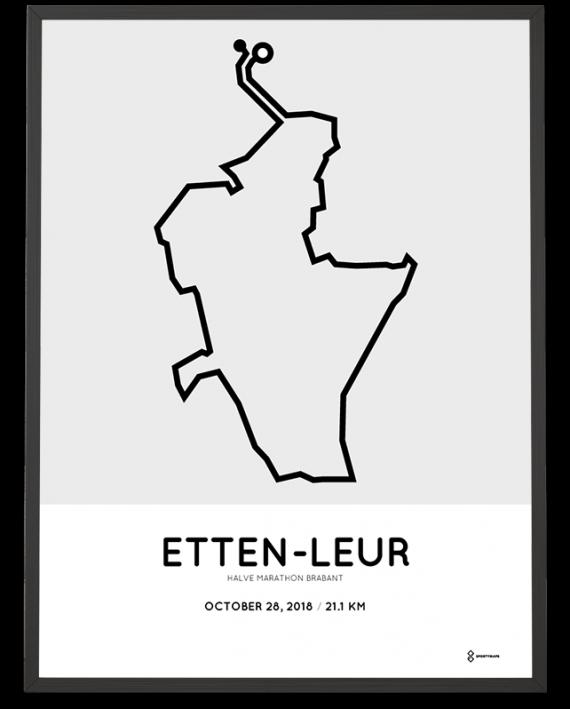 2018 Etten-Leur halve marathon brabant route poster