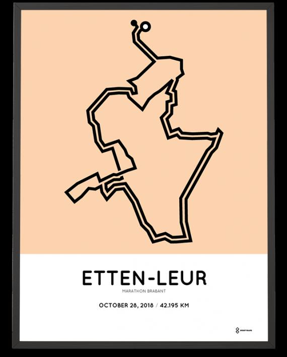 2018 Etten-Leur marathon Brabant parcours poster