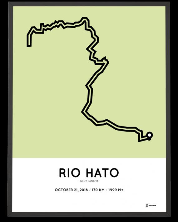 2018 GFNY Panama 170km course poster