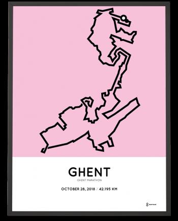 2018 Ghent marathon course poster