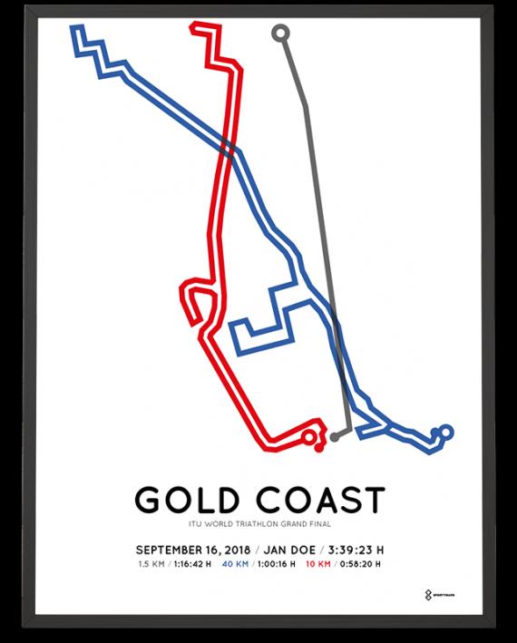 2018 Gold Coast world triathlon standard distance course poster