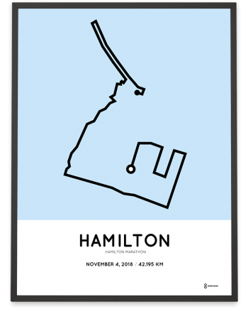 2018 Hamilton marathon course poster