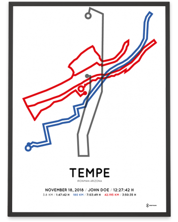 2018 Ironman Arizona route sportymaps print