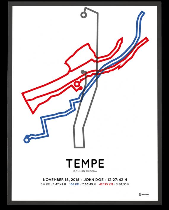 2018 Ironman Arizona route sportymaps print