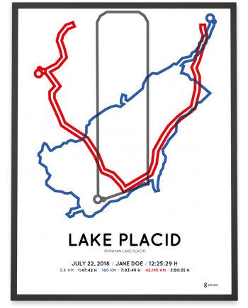 2018 Ironman Lake Placid course poster