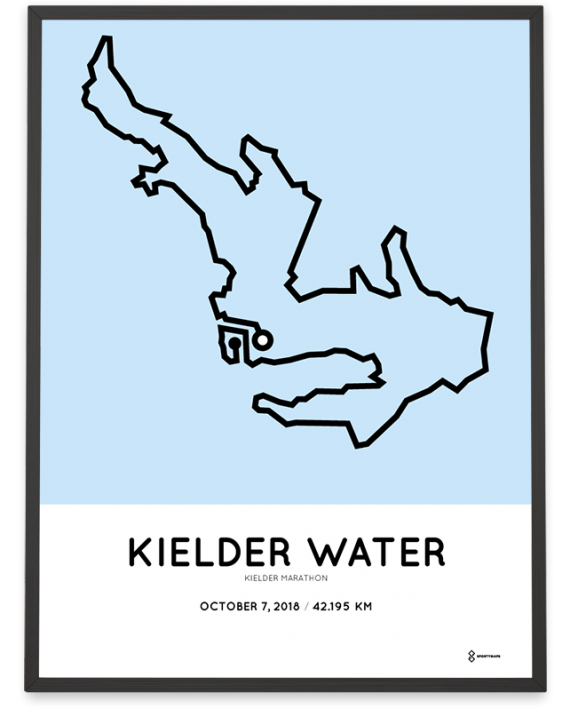 2018 Kielder marathon route map poster