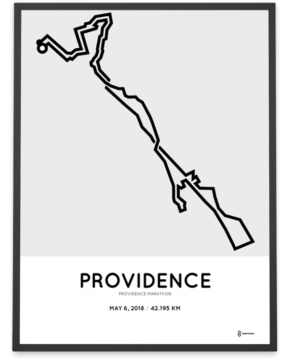 2018 Providence marathon course poster