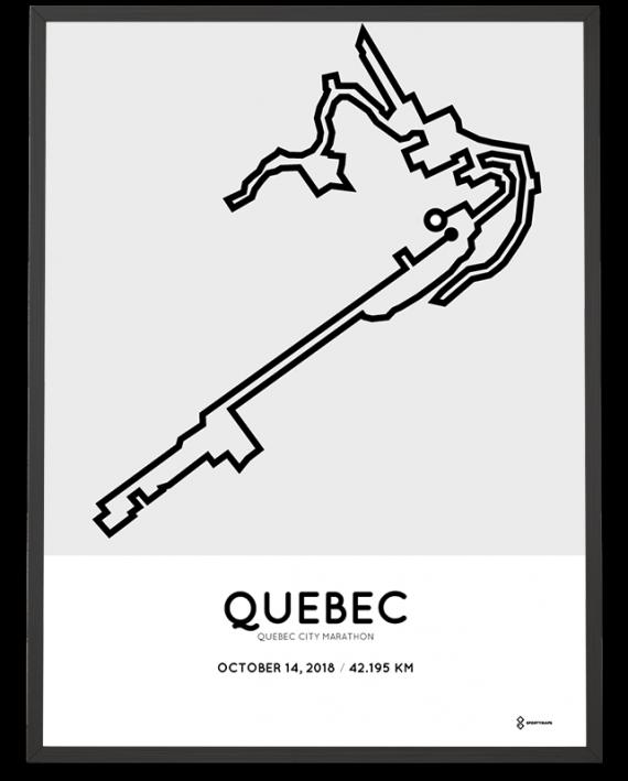 2018 Quebec marathon course poster