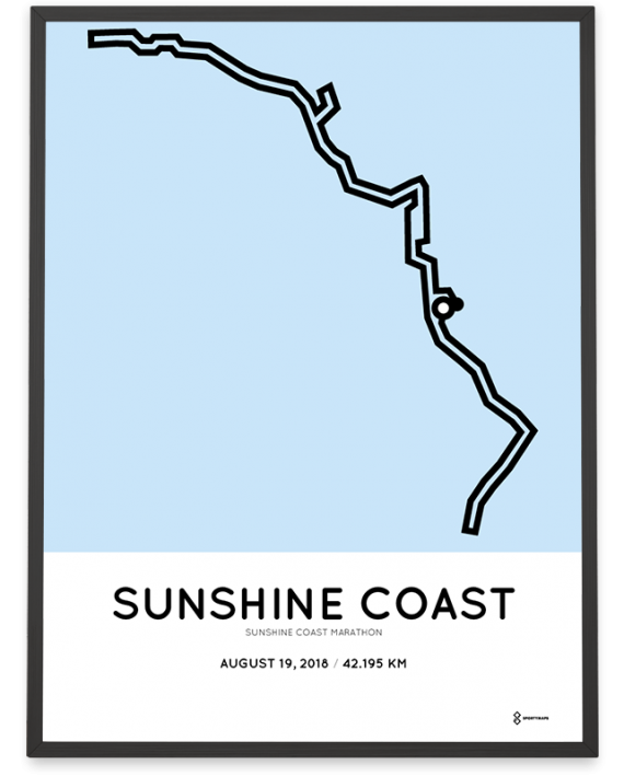 2018 Sunshine coast marathon course poster