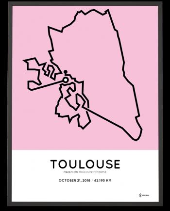 2018 Marathon Toulouse metropole parcours poster