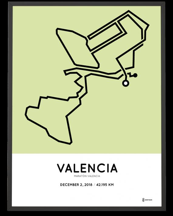 2018 Maratón Valencia course sportymaps poster