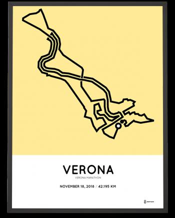 2018 Verona marathon percorso print