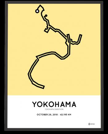 2018 Yokohama marathon course poster